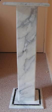colonne faux marbre