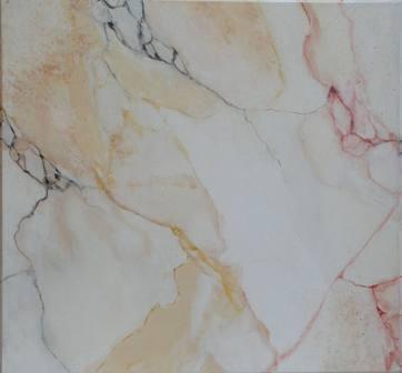 faux marbre en blanc et jaune