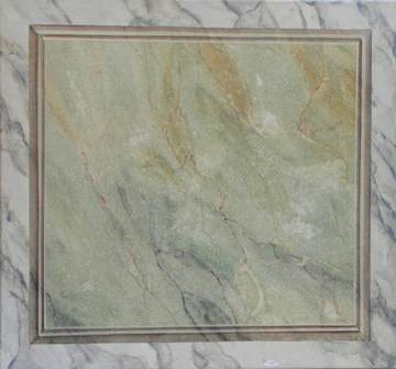faux marbre en vert et blanc