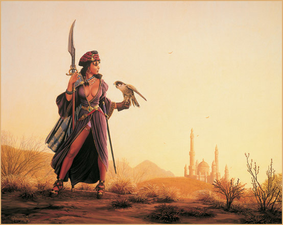 Femme dans le desert