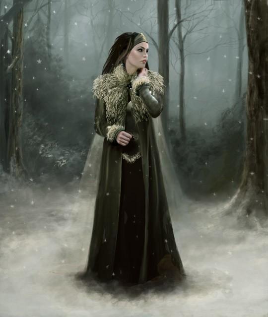 Femme dans le noir