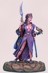 Femme dans le désert