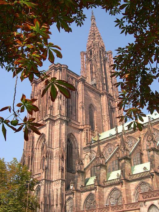 Strasbourg - Cathédrale entre les feuilles