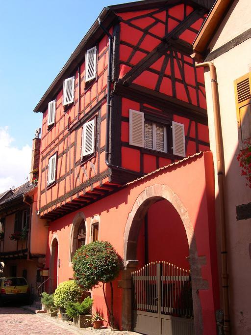 Kaysersberg - Maison rouge pétante