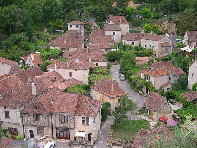 Vue des hauteurs de Saint-Cirq Lapopie