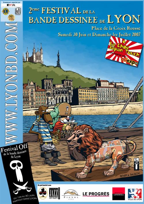 Affiche du Festival de BD de Lyon
