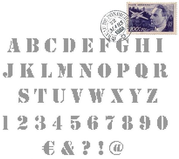 Alphabet de Sof' - Pochoir