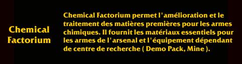 Description de Savage ChemicalFactorium